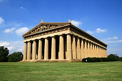 The replica of the Parthenon in Nashville's Centennial Park makes the name Titans quite applicable