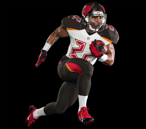 The Bucs new uniforms are modern and flashy