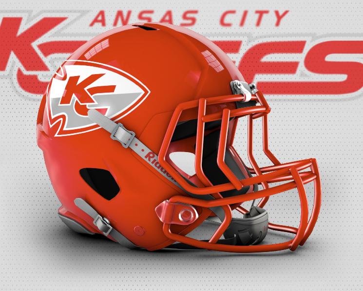 Chiefs Red Helmet