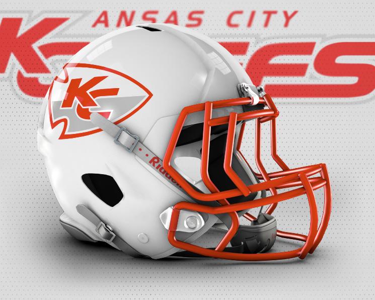Chiefs White Helmet