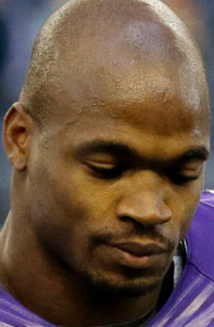 Adrian Peterson in suspended animation