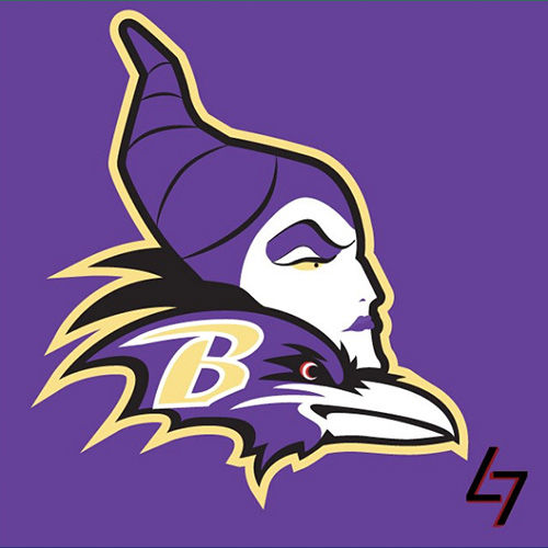 ak47_studios Disney x NFL series - Maleficent Baltimore Ravens