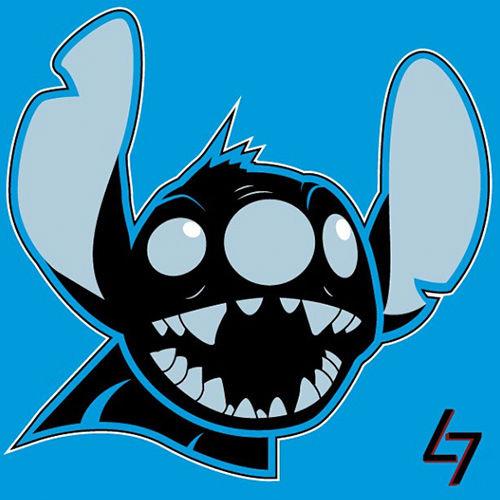 ak47_studios Disney x NFL series - Lilo and Carolina Stitch