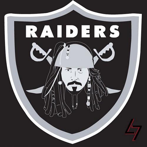 ak47_studios Disney x NFL series - Captain Jack Oakland Raiders