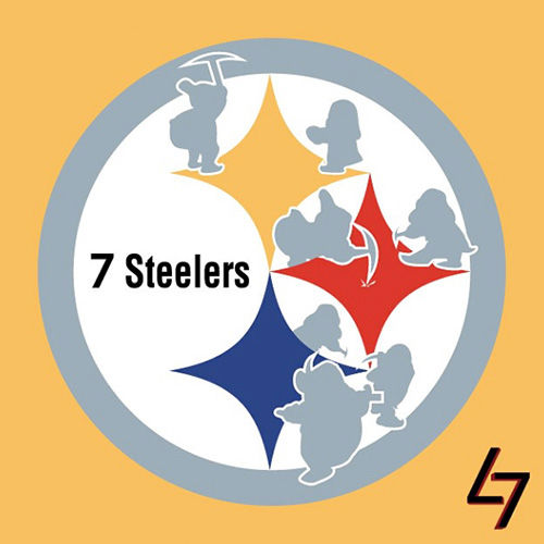 ak47_studios Disney x NFL series - Whistle while you work with Snow White and the Seven Steelers