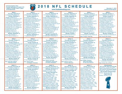 Nfl Schedule 2020 Printable.Fantasy Football Ideas Part 3