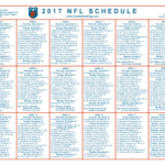graphic about Printable One Page Nfl Schedule identify pdf Soccer Site
