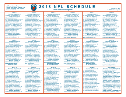 Printable 2019 Nfl Schedule Fantasy Football Ideas