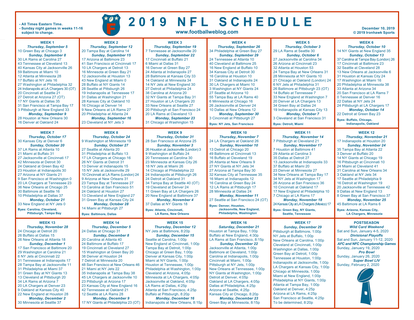 It is an image of Nfl Week 14 Printable Schedule inside today
